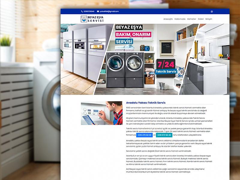 Beyaz Eşya Servisi - NeoCloudy Kolay Panel Web Sitesi