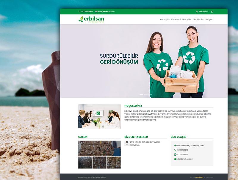Erbilsan - NeoCloudy Kolay Panel Web Sitesi
