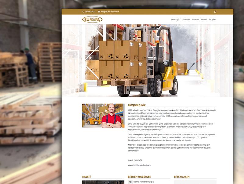 EuroPa Orman Ürünleri - NeoCloudy Kolay Panel Web Sitesi
