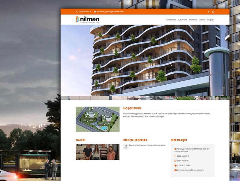 Nilmen Mimarlik - NeoCloudy Kolay Panel Web Sitesi